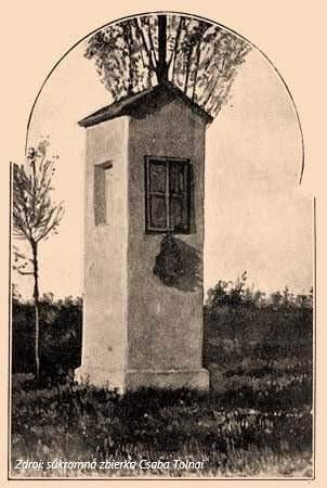 Pôvodný pamätný stĺp Štefana I. Koháryho.