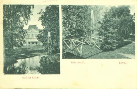Schoellerov kaštieľ a park okolo roku 1912